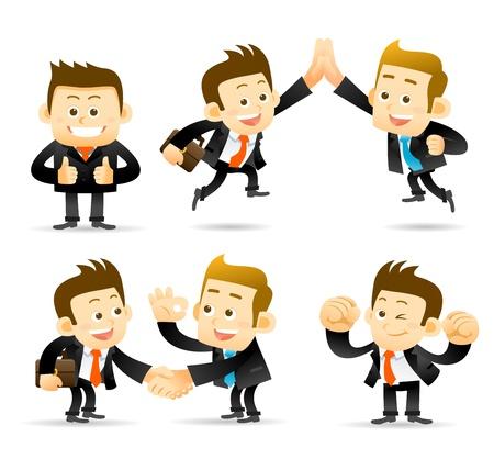 empresario: La gente elegante serie - hombre de negocios, juego de cooperaci�n Vectores