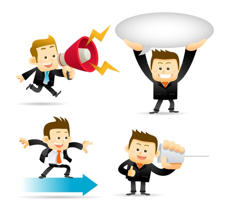 Elegant People Series   Businessman set Stock Vector - 16010446