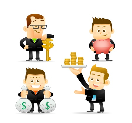 Elegant People Series - Businessman,Finance set  Vector