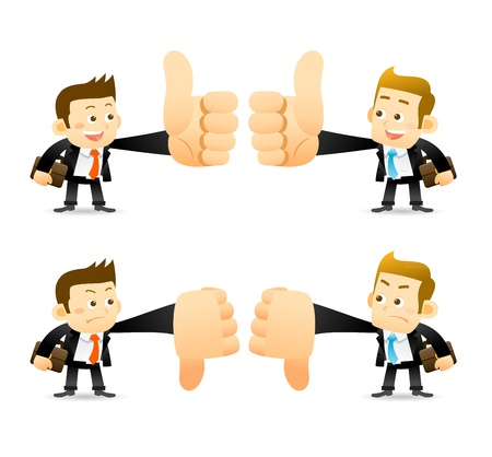 Elegant People Series   Thumb up and down Stock Vector - 17442334