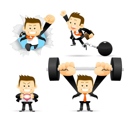 Businessman Breaking free   Success  Vector