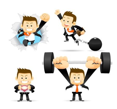 Businessman Breaking free   Success Stock Vector - 17691128