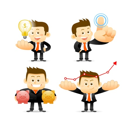 Businessman set Stock Vector - 18236741