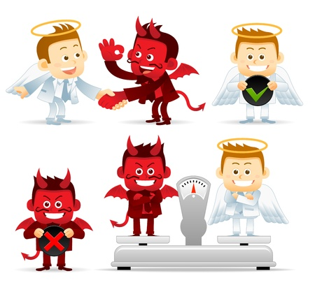 Business Angel   Devil Vector