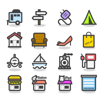 Leisure time Icon set Illustration