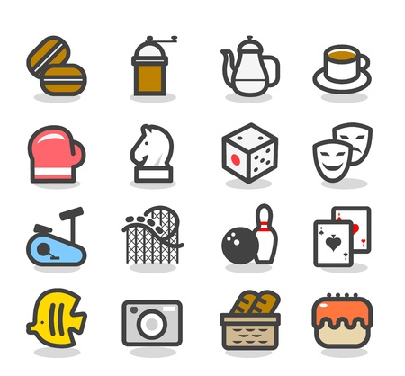 Leisure time Icon set Vector