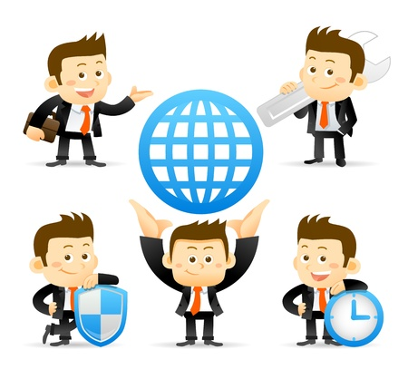 Businessman set Stock Vector - 19607131