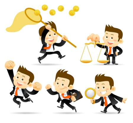 businessman jumping: Businessman set
