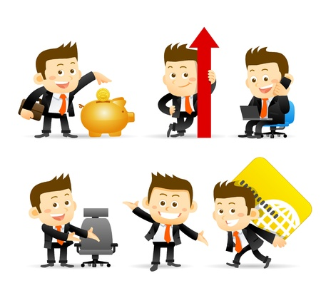 financial managers: Businessman set
