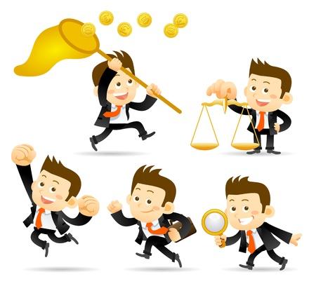 Finanz-und erfolgreichen Geschäftsmann Set Vektorgrafik