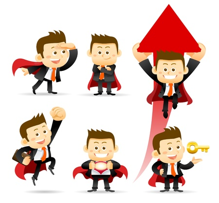 Super Businessman  Stock Illustratie