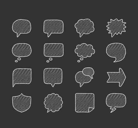 buble: doodle speech buble icon set