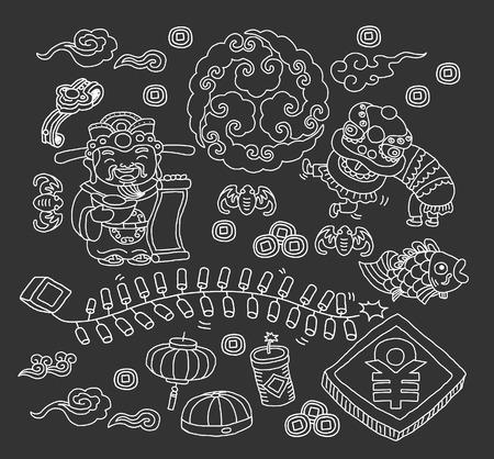 Chinese nieuwe jaar Stock Illustratie