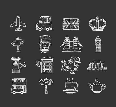 Doodle Britain, UK icon set