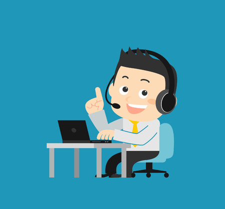 hands free device: Customer Service Illustration