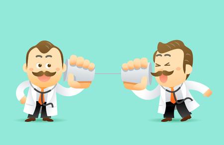 physiotherapist: Vector Set of Cartoon Doctor Character, illustration