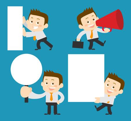 employment issues: People Set - Business - Memo. Man - Illustration Illustration