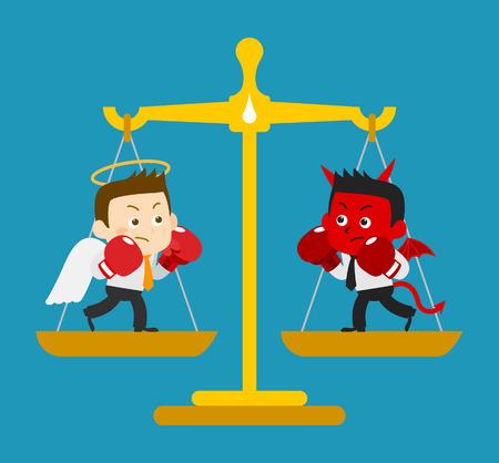 Business Angel & Devil - vector Illustration