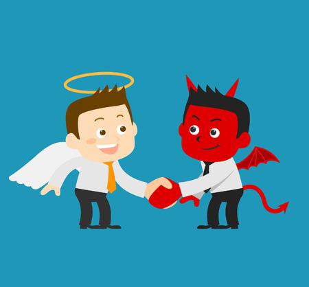 teufel und engel: Business Angel & Devil - Vektor-Illustration Illustration