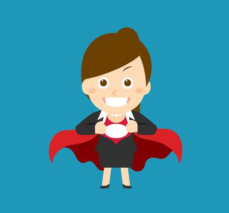 sexy skirt: Flatten Vector illustration  Cartoon businesswoman character