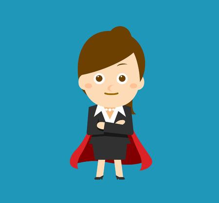 businesswoman skirt: Flatten Vector illustration  Cartoon businesswoman character
