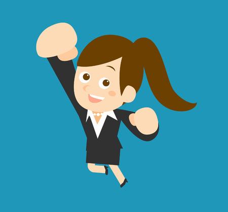 to flatten: Flatten Vector illustration  Cartoon businesswoman character