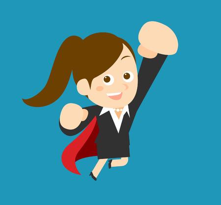 Flatten Vector illustration  Cartoon businesswoman character Vector
