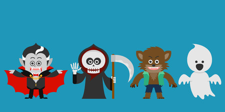 haunted: Vector illustration  Halloween character