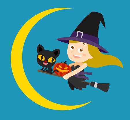 sexy witch: Vector illustration  beauty and sexy witch of halloween Illustration
