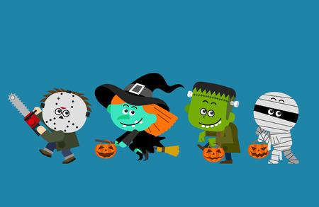 Vector illustratie leuke Halloween-teken