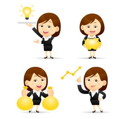 illustration - Businesswoman set  イラスト・ベクター素材