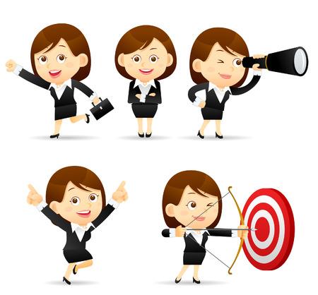 Vector illustration - Businesswoman set