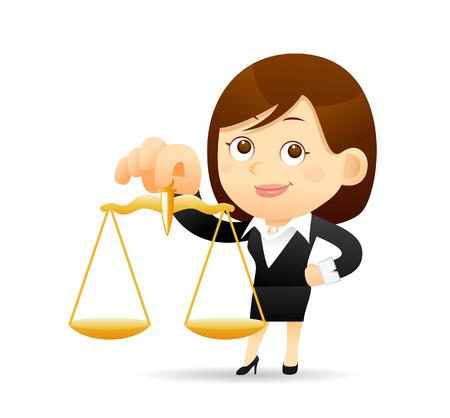 Vector illustratie - Cartoon zakenvrouw karakter Stock Illustratie