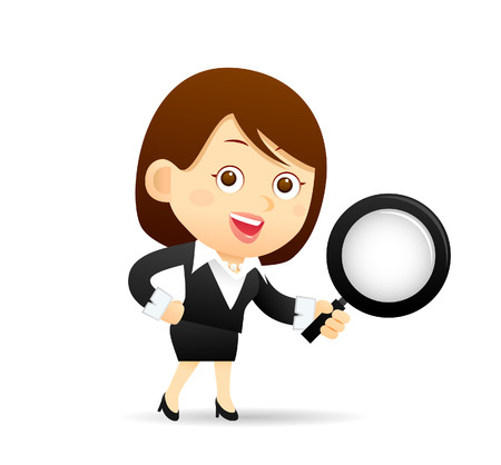 join: Vector illustration - Cartoon businesswoman character