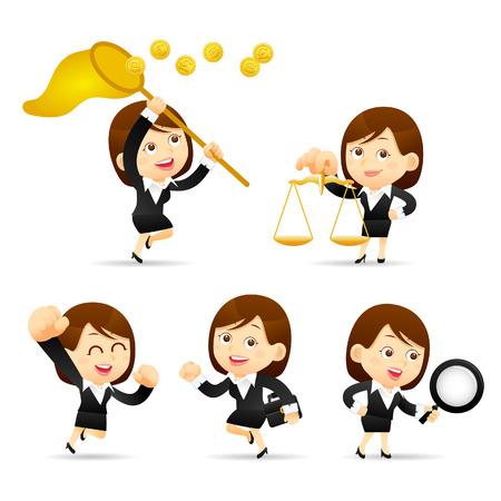 Vector illustration - Cartoon businesswoman character