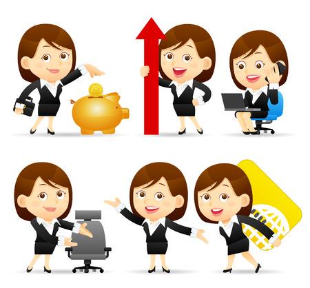 Vector illustratie - Cartoon zakenvrouw karakter Stockfoto - 42548725