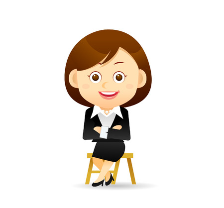 Vector illustration - Beauty businesswoman character Çizim