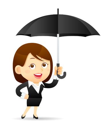 guarding: Vector illustration - Beauty businesswoman character Illustration