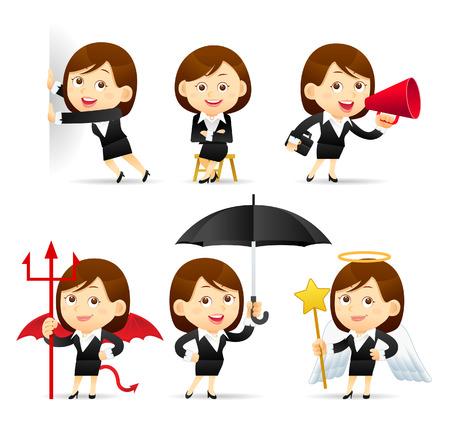 Vector illustration - Beauty businesswoman character Illustration