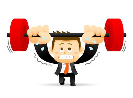 bodybuilding: Vector illustration - concept of Businessman holding barbell