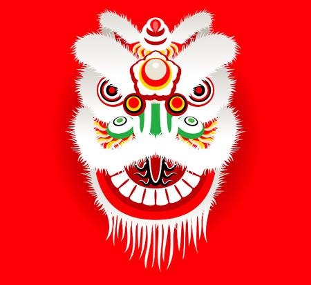 Cartoon chinesischen Löwenkopf Standard-Bild - 52016191