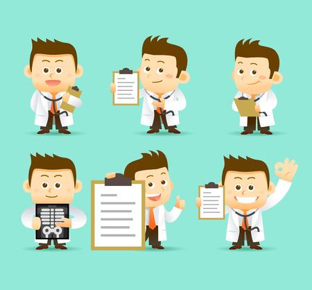 chirurgo: illustrazione dottore carattere