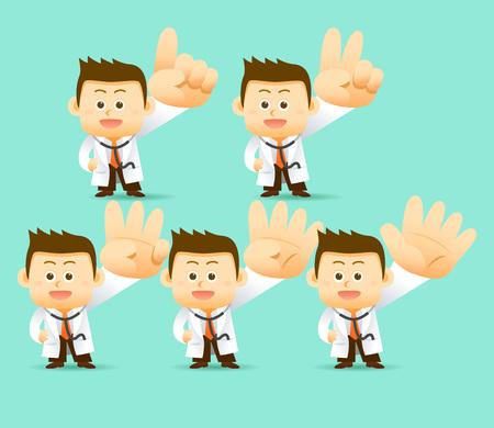 illustration Doctor Character Векторная Иллюстрация