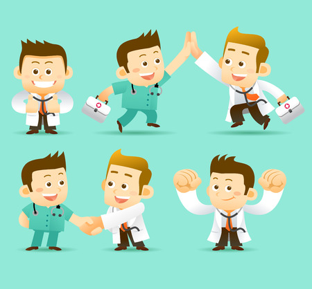 physiotherapist: illustration Doctor Character
