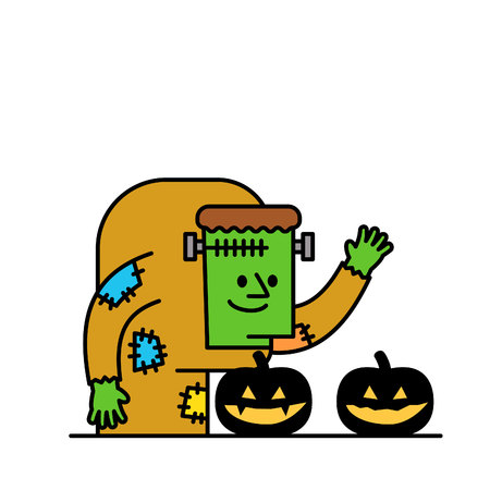 hunchback: Vector illustration - Halloween Character