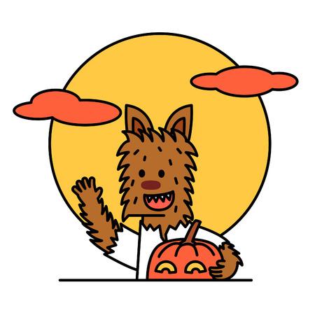 super dog: Vector illustration - Halloween Character
