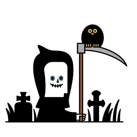 sotana: Ilustración del vector - disfraz de Halloween Vectores