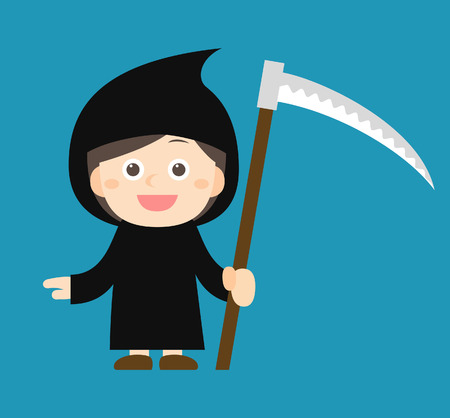 Vector illustration - halloween costume characters Illustration