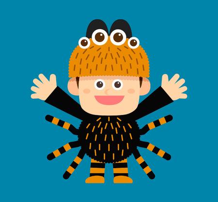 dress up: Vector illustration - halloween costume characters Illustration