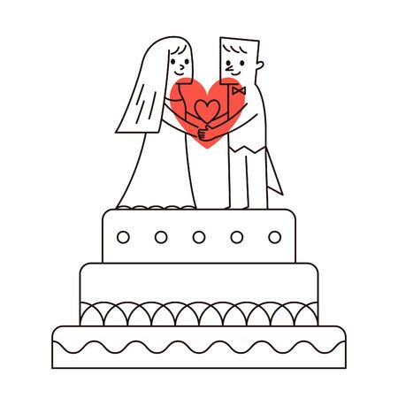 wedding cake: Vector illustration - wedding cake